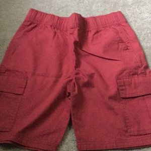 Children's Place red pull on cargo shorts NWT